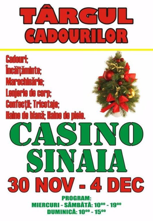 """Casino Sinaia vă invită la """"Târgul Cadourilor"""""""